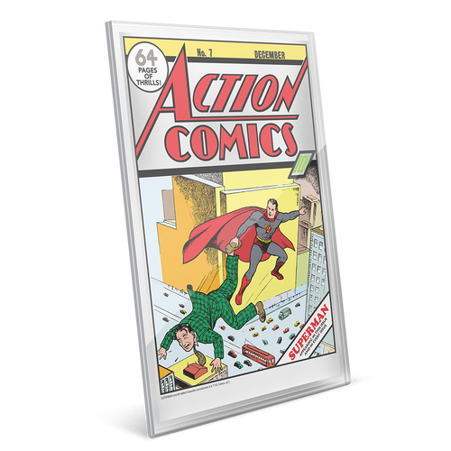 DC Comics – Action Comics #7 35g Pure Silver Foil in Perspex Holder