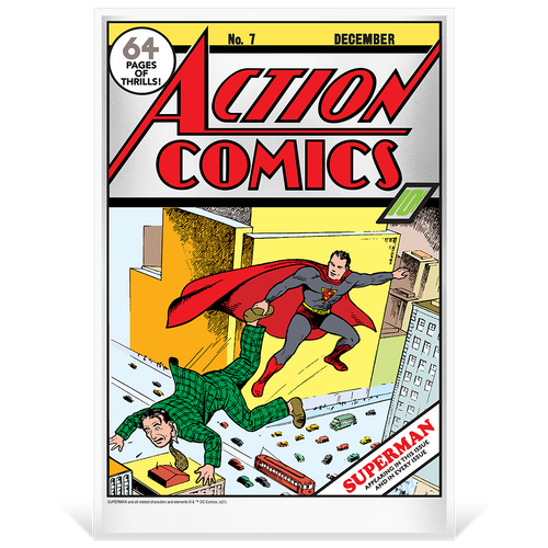 DC Comics – Action Comics #7 35g Pure Silver Foil in Protective Film