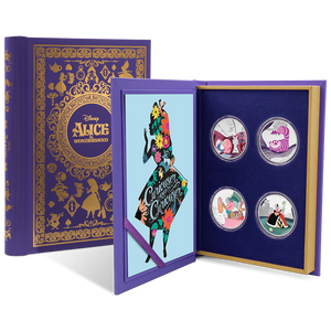 Alice in Wonderland 4 x 1oz Silver Coin Set Packaging