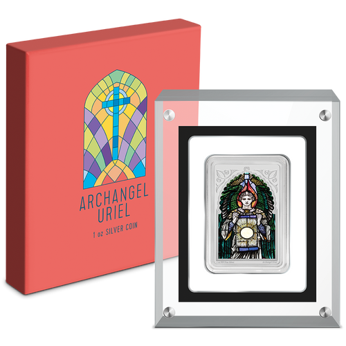 Archangel Uriel 1oz Silver Coin Packaging