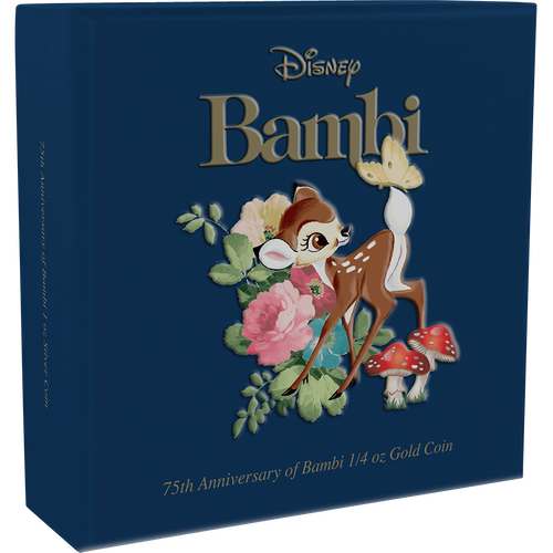 Bambi 75th Anniversary 1/4oz Gold Coin Box