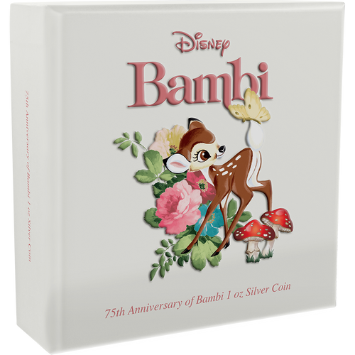 Bambi 75th Anniversary 1oz Silver Coin Box