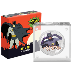 BATMAN™' 66 - BATMAN 1oz Silver Coin Packaging