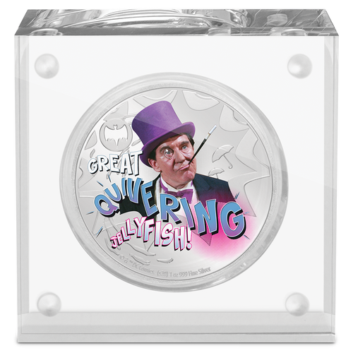 BATMAN™'66 - THE PENGUIN 1oz Silver Coin Display