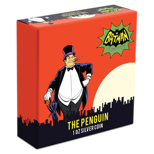 BATMAN™'66 - THE PENGUIN 1oz Silver Coin Box