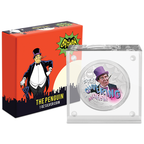 BATMAN™'66 - THE PENGUIN 1oz Silver Coin Packaging