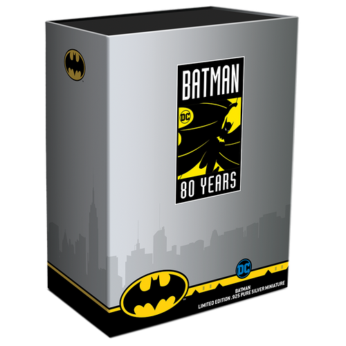BATMAN™'s 80th Anniversary 235g Silver Miniature Box