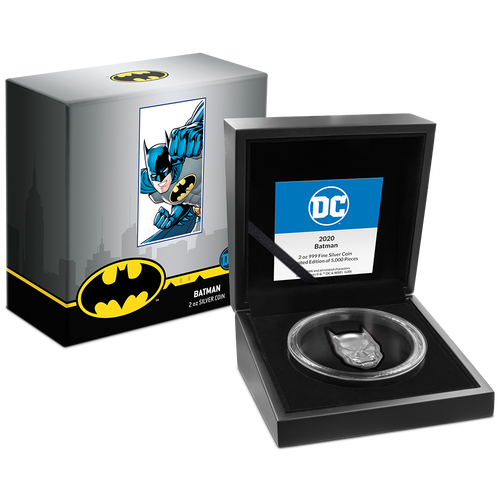 DC Comics – BATMAN™ 2oz Silver Coin Display Packaging