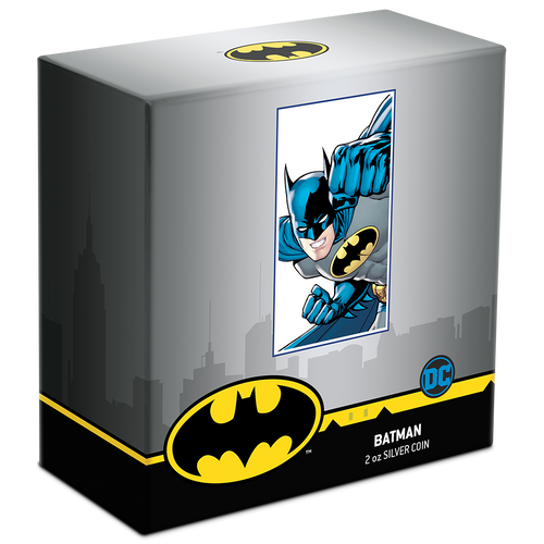 DC Comics – BATMAN™ 2oz Silver Coin Packaging