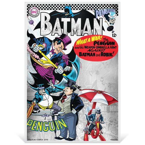 BATMAN™ Villains - THE PENGUIN™ 5g Silver Coin Note Base