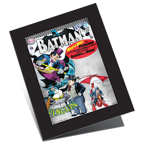 BATMAN™ Villains - THE PENGUIN™ 5g Silver Coin Note Display