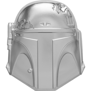 Star Wars™ Helmets: Boba Fett™ Helmet Ultra High Relief 2oz Silver Coin | NZ Mint