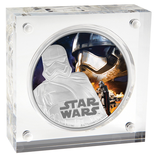Star Wars: The Force Awakens - Captain Phasma™ 1oz Silver Coin Display