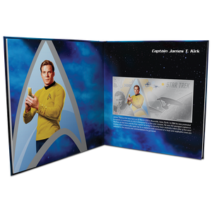 Star Trek Original Series - Captain Kirk 5g Silver Coin Note PLUS Collector's Album