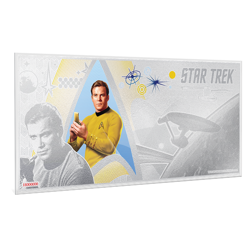 Star Trek Original Series - Captain Kirk 5g Silver Coin Note