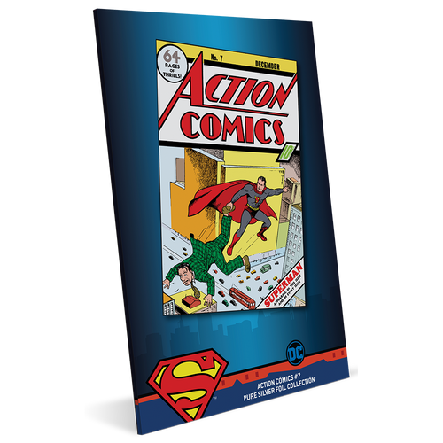 DC Comics – Action Comics #7 35g Pure Silver Foil Packaging