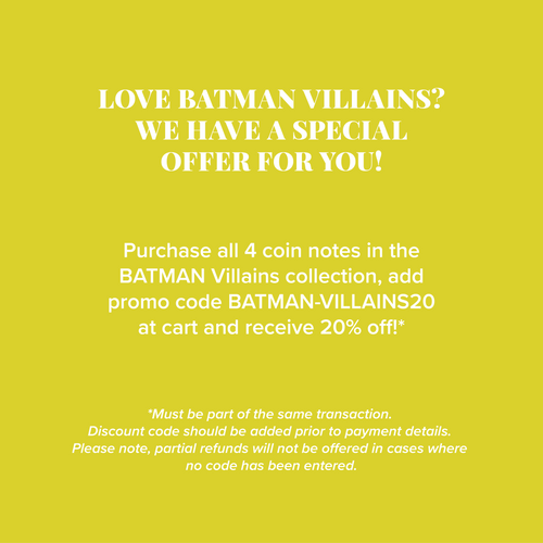 BATMAN™ Villains - TWO-FACE™ 5g Silver Coin Note