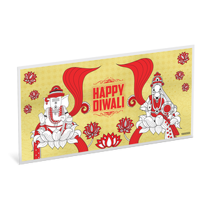 1g Gold Foil Happy Diwali NZ Mint
