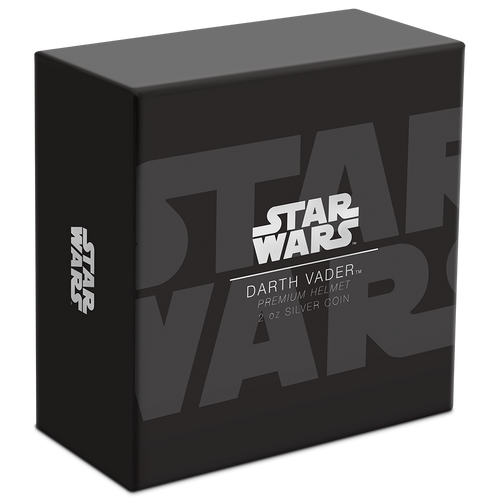 Star Wars Helmets: Darth Vader™ Helmet Ultra High Relief 2oz Silver Coin Box