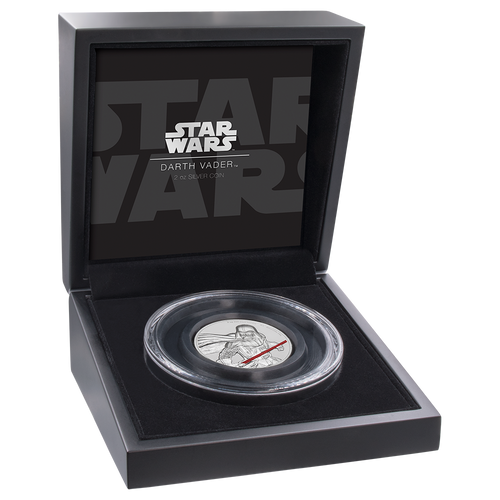 Star Wars Darth Vader™ Ultra High Relief 2oz Silver Coin Display