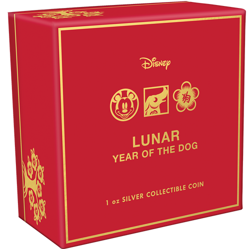 Disney Lunar Year of the Dog 1oz Silver Coin Box