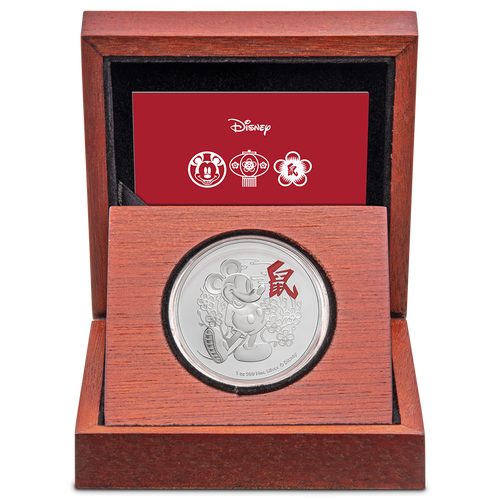 Disney Lunar Year of the Mouse 1oz Silver Coin Display