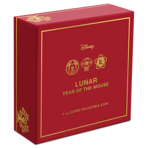 Disney Lunar Year of the Mouse 1oz Silver Coin Box