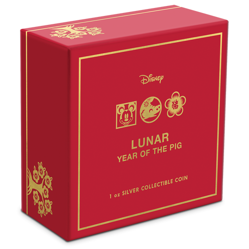 Disney Lunar Year of the Pig 1oz Silver Coin