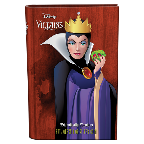 Disney Villains - Evil Queen 1oz Silver Coin Booklet