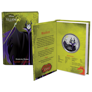 Disney Villains - Maleficent 1oz Silver Coin Packaging