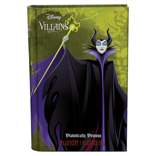 Disney Villains - Maleficent 1oz Silver Coin Closed Booklet