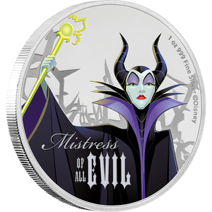 Disney Villains - Maleficent 1oz Silver Coin