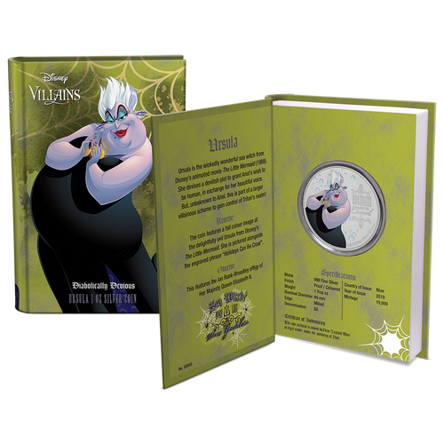 Disney Villains - Ursula 1oz Silver Coin Packaging