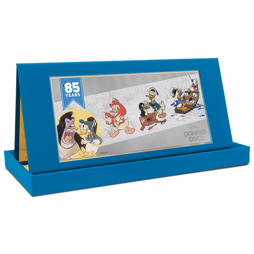 Donald Duck 85th Anniversary 5g Silver Coin Note Tent