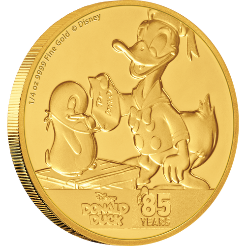 Donald Duck 85th Anniversary 1/4oz Gold Coin