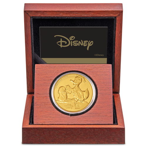 Donald Duck 85th Anniversary 1oz Gold Coin