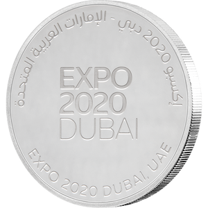 Expo 2020 Dubai - 40g Silver Medallion - English Obverse