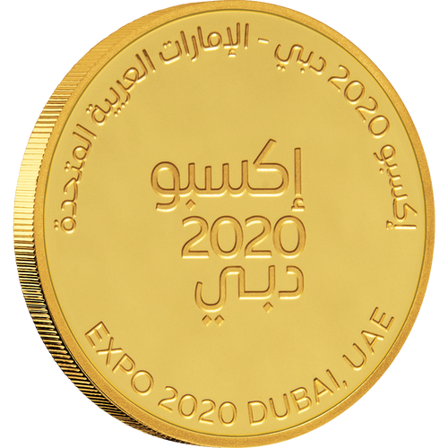 Expo 2020 Dubai - 7g Gold Medallion - Arabic Obverse