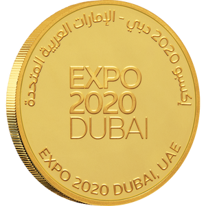 Expo 2020 Dubai - 7g Gold Medallion - English Obverse