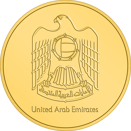 Expo 2020 Dubai – 20g Gold Coin Obverse Flat View - United Arab Emirates