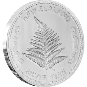 1oz Silver Fern Silver Bullion Coin Front Side - NZ Mint