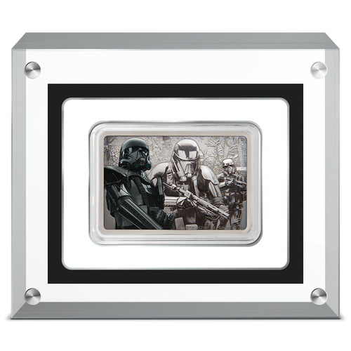 Star Wars: Guards of the Empire Death Trooper™ 1oz Silver Coin Perspex Display Case