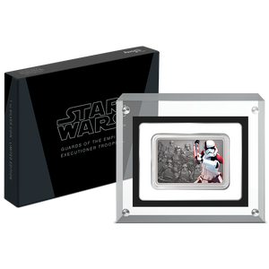 Star Wars: Guards of the Empire - Executioner Trooper™ 1oz Silver Coin Display Box and Perspex Magnetic Packaging | NZ Mint