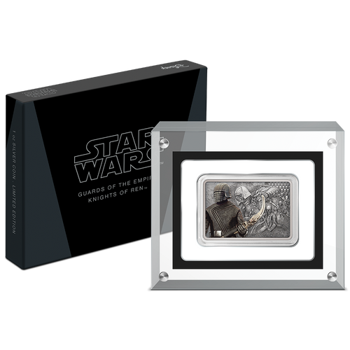 Star Wars: Guards of the Empire Knights of Ren™ 1oz Silver Coin Display Packaging