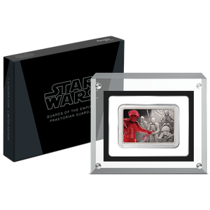 Star Wars: Guards of the Empire - Praetorian Guard™ 1oz Silver Coin Display Packaging