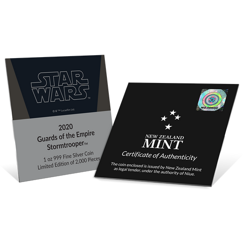Star Wars: Guards Of The Empire - Stormtrooper™ 1oz Silver Coin Certificate