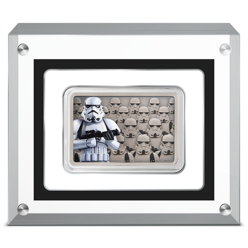 Star Wars: Guards Of The Empire - Stormtrooper™ 1oz Silver Coin Display