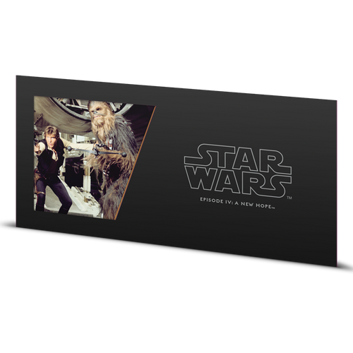 Star Wars: A New Hope - Han Solo™ and Chewbacca™ 5g Silver Coin Note Sleeve