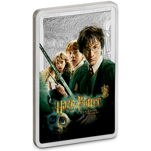 HARRY POTTER™ Classic Poster - The Chamber of Secrets 1oz Silver Coin Front | New Zealand Mint