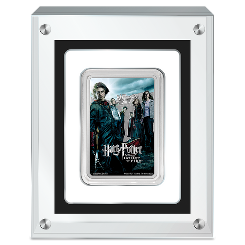 HARRY POTTER™ Movie Poster - Harry Potter and the Goblet of Fire™ 1oz Silver Coin in Perspex Display Case